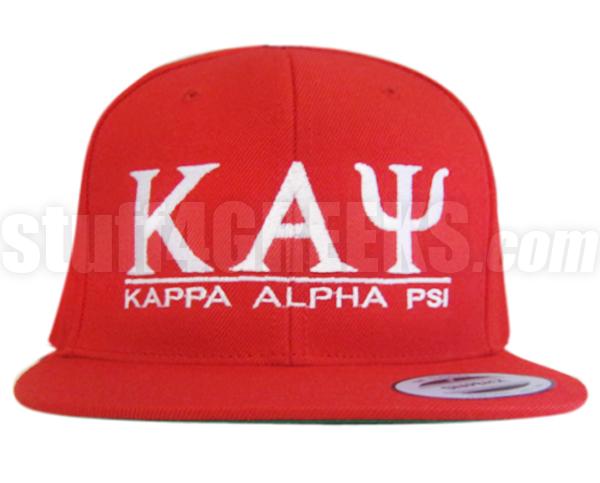 b183b6433 Kappa Alpha Psi Greek Letter Snapback Cap, Red (SAV)