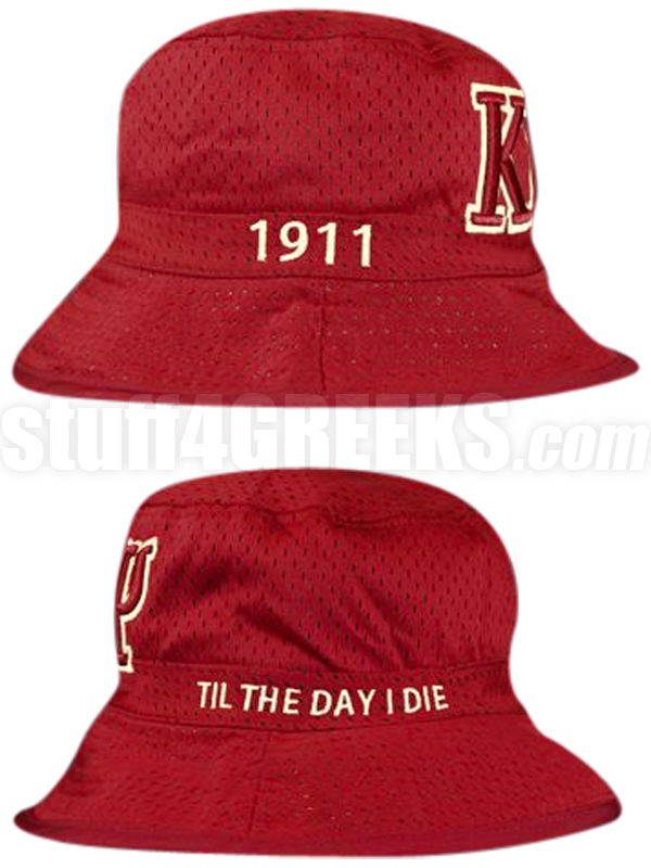 09ac4fd14 Kappa Alpha Psi Greek Letters Floppy Bucket Hat with Founding Year, Crimson  (NS)