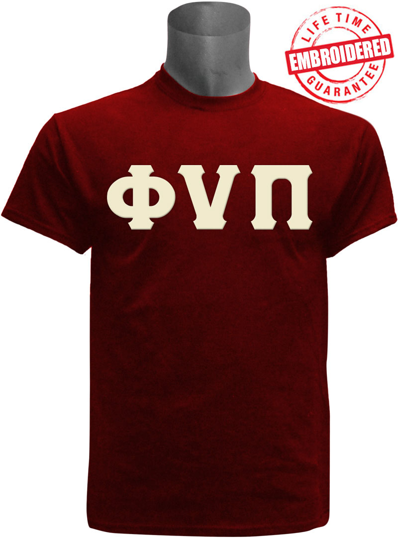ecf596056c6 Kappa Alpha Psi T-Shirt with Phi Nu Pi Letters