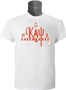 KappaNupeGear - Kappa, Cane and Founding Year T-Shirt, White - Screen Printed