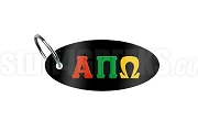 Alpha Pi Omega Key Chain with Greek Letters, Black