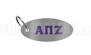 Alpha Pi Zeta Key Chain with Letters, Gray