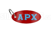 Alpha Rho Chi Key Chain with Greek Letters, Sanguine