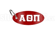 Alpha Theta Pi Key Chain with Greek Letters, Red