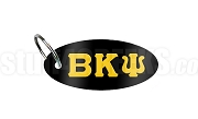 Beta Kappa Psi Key Chain with Greek Letters, Black