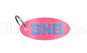 Beta Nu Theta Key Chain with Greek Letters, Pink