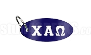 Chi Alpha Omega Key Chain with Greek Letters, Navy Blue