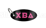 Chi Beta Delta Key Chain with Greek Letters, Black