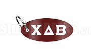 Chi Delta Beta Key Chain with Greek Letters, Burgundy