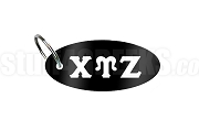 Chi Upsilon Zeta Key Chain with Greek Letters, Black