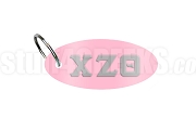 Chi Zeta Theta Key Chain with Greek Letters, Pink