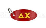Delta Chi Key Chain with Greek Letters, Red