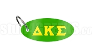 Delta Kappa Sigma Key Chain with Greek Letters, Green