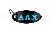 Delta Lambda Chi Key Chain with Greek Letters, Black