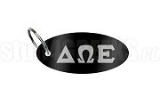 Delta Omega Epsilon Key Chain with Greek Letters, Black