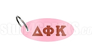 Delta Phi Kappa Key Chain with Greek Letters, Pink