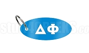 Delta Phi Key Chain with Greek Letters, Columbia Blue