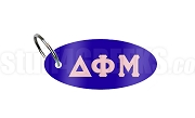 Delta Phi Mu Key Chain with Greek Letters, Royal Blue