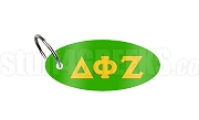 Delta Phi Zeta Key Chain with Greek Letters,Green