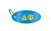 Delta Psi Key Chain with Greek Letters, Azure Blue
