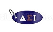 Delta Sigma Iota Key Chain with Greek Letters, Navy Blue