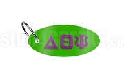 Delta Theta Psi Key Chain with Greek Letters, Kelly Green
