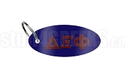 Delta Xi Phi Key Chain with Greek Letters, Navy Blue