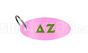 Delta Zeta Oval Sublimated Key Chain with Greek Letters, Rose