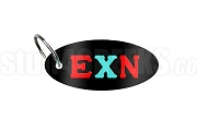 Epsilon Chi Nu Key Chain with Greek Letters, Black