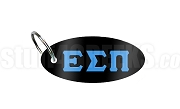 Epsilon Sigma Pi Key Chain with Greek Letters, Black