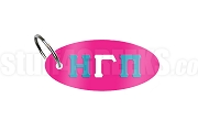 Eta Gamma Pi Key Chain with Greek Letters, Hot Pink