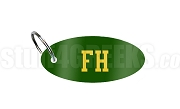 FarmHouse Key Chain with Letters, Forest Green
