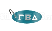 Gamma Beta Delta Key Chain with Greek Letters, Teal