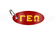 Gamma Epsilon Omega Key Chain with Greek Letters, Red