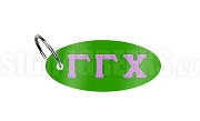 Gamma Gamma Chi Key Chain with Greek Letters, Kelly Green
