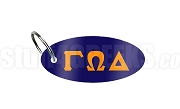 Gamma Omega Delta Key Chain with Greek Letters, Navy Blue