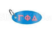 Gamma Phi Delta Key Chain with Greek Letters, Columbia Blue