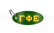 Gamma Phi Epsilon Key Chain with Greek Letters, Forest Green