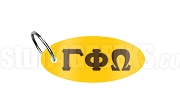 Gamma Phi Omega Fraternity Key Chain with Greek Letters, Gold