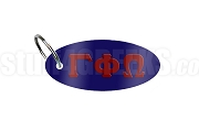 Gamma Phi Omega Sorority Key Chain with Greek Letters, Navy Blue