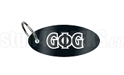 Groove Phi Groove Oval Sublimated Key Chain with Letters, Black