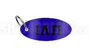Iota Lambda Pi Key Chain with Greek Letters, Royal Blue