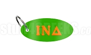 Iota Nu Delta Key Chain with Greek Letters, Kelly Green