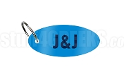 Jack & Jill Key Chain with Organization Letters, Light Blue
