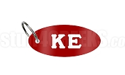 Kappa Epsilon Key Chain with Greek Letters, Red