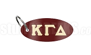 Kappa Gamma Delta Key Chain with Greek Letters, Burgundy