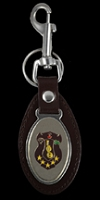 Iota Phi Theta Leather Fob Key Chain
