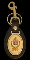 Omega Psi Phi Leather Fob Key Chain