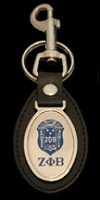 Zeta Phi Beta Leather Fob Key Chain