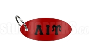Lambda Iota Upsilon Key Chain with Greek Letters, Red